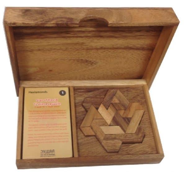 טנגרם מגן דוד משחקי חשיבה מעץ 1