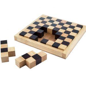 פאזל לוח שח - משחקי חשיבה מעץ