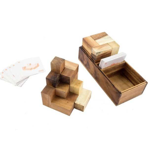 קובית סומו כפולה - משחקי חשיבה מעץ