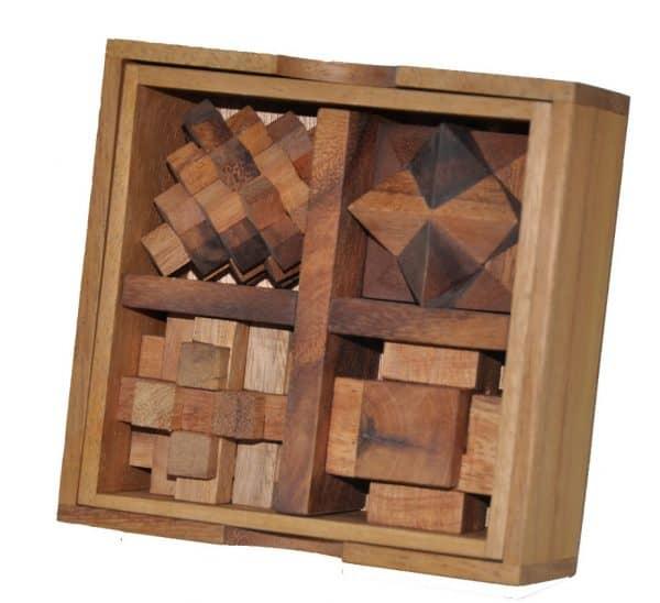 תיבת 5 פאזלים - משחקי חשיבה מעץ 1