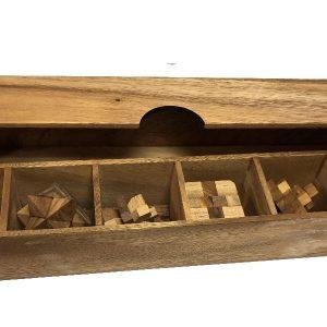 תיבת 6 פאזלים - משחקי חשיבה מעץ