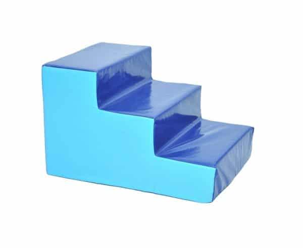 מדרגות ג'ימבורי מרופדות כחול תכלת
