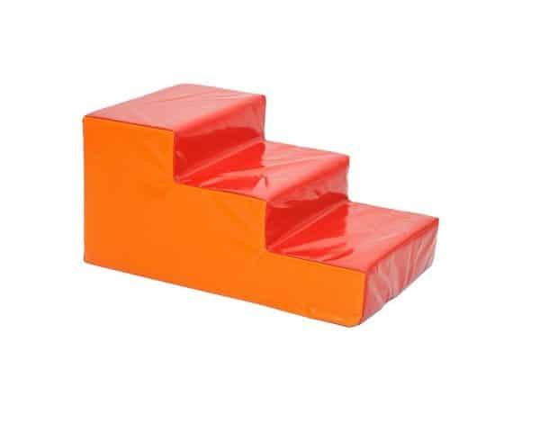 מדרגות ג'ימבורי מרופדות כתום אדום