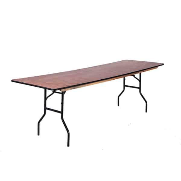שולחן מתקפל מעץ 2 מטר אורך