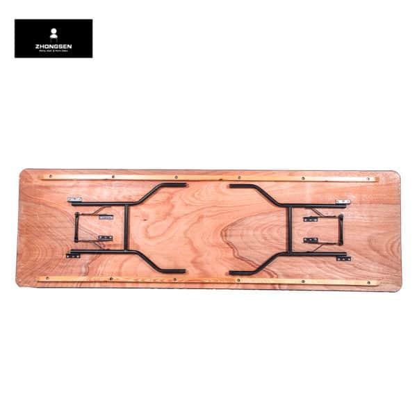 שולחן מתקפל מעץ 2 מטר מקופל